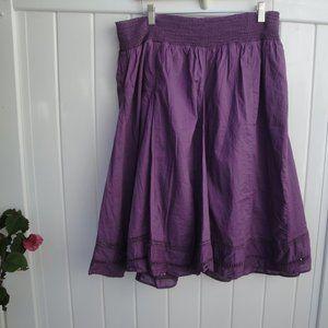 Boho Fall Color 100% Cotton  Skirt XL